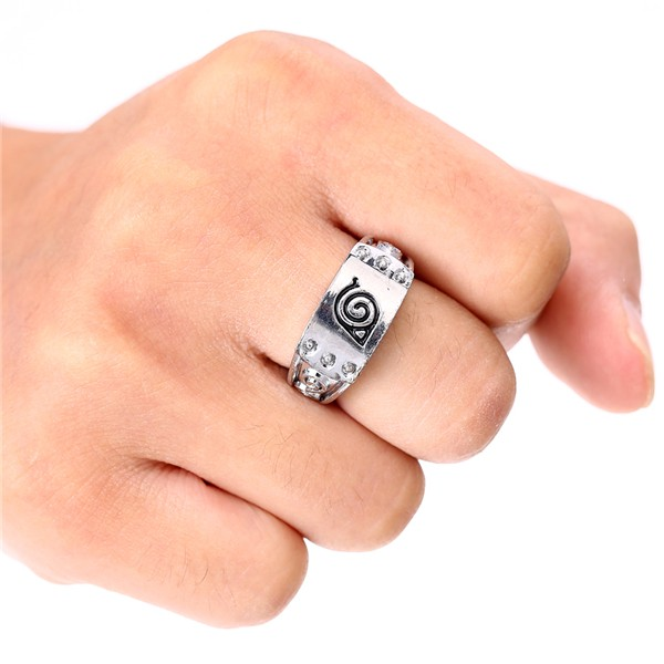 Naruto's leaf village symbol Ring