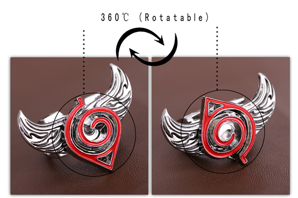 Naruto Sharingan Rings with rotating angel wings