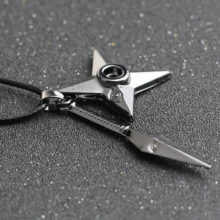 NARUTO Kunai + Shuriken pendant necklace