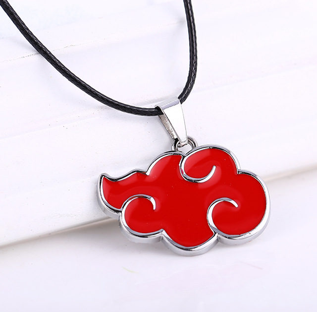 Akatsuki clan's red cloud pendant necklace