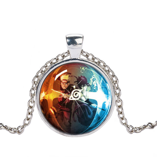 NARUTO's glass dome pendant necklace (3 colors)