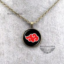 Superb Naruto's Akatsuki cloud pendant necklace