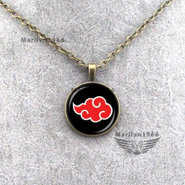 Superb Naruto's Akatsuki cloud pendant necklace