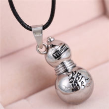 Naruto Gaara Silver Plated Beads Pendant Necklace