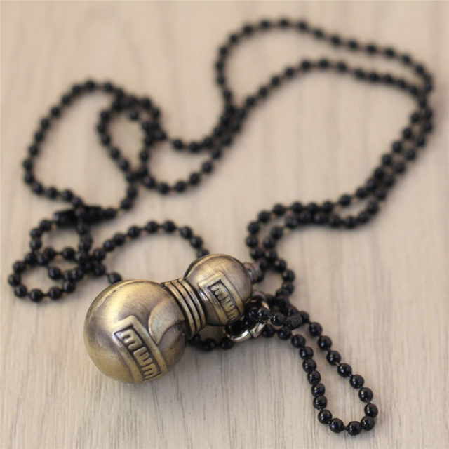 Naruto Gaara Plated Beads Pendant Necklace