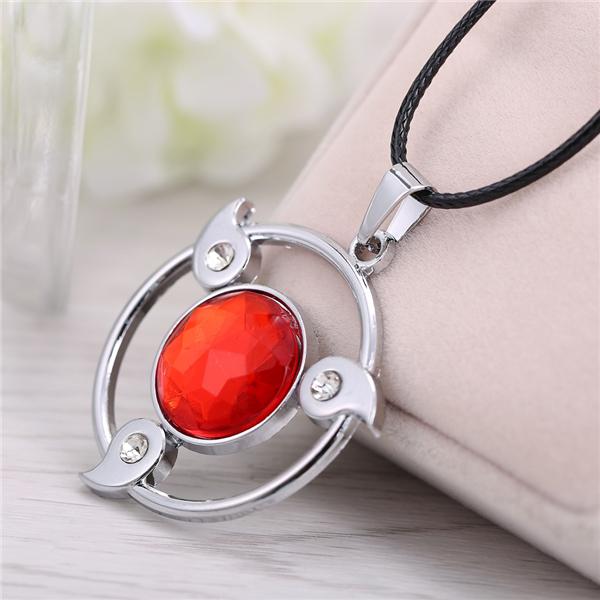 Naruto's round shape red Sharingan pendant  Necklace