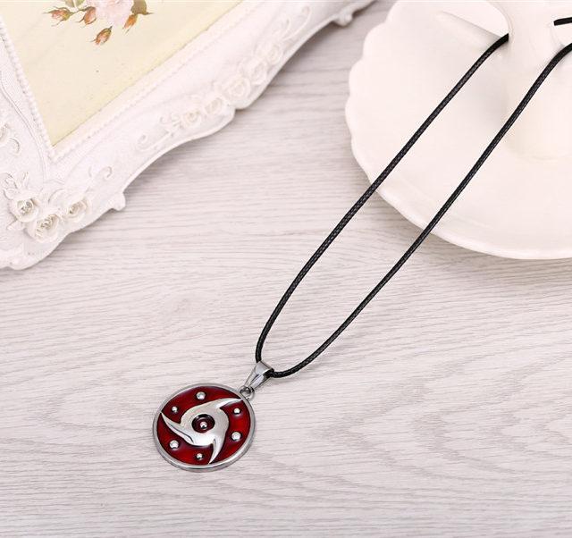 Naruto Uchiha's Mangekyou Sharingan Pendant Necklace