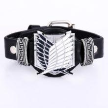 Naruto's Konoha symbol Leather bracelet