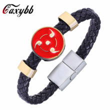 Fashionable Naruto's Sharingan Leather Bracelet