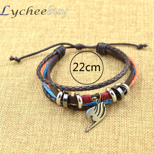 Naruto & Fairy Tail cosplay Leather Bracelet