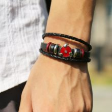 Powerful Naruto's Sharingan Leather Bracelet