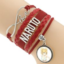 "LOVE Naruto ""best friends"" pendant bracelet"