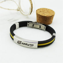 Hot Naruto Stainless Steel / Titanium / Silicone Bracelets