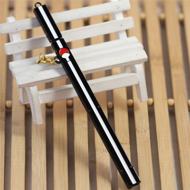 Naruto's Uchiha emblem sword replica keychain